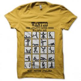 tee shirt recherche partenaire sexuel en jaune
