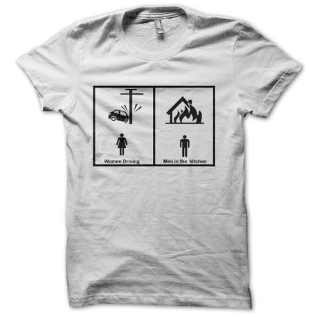 camiseta hombres vs mujeres blancas