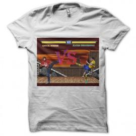 tee shirt chuck norris vs zlatan ibrahimovic en blanc