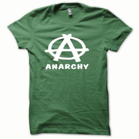 Tee shirt Anarchy blanc/vert bouteille