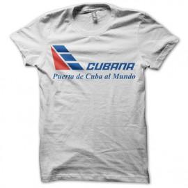 Cubana Airlines tee shirt blanc