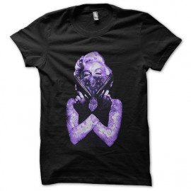 marilyn monroe purple shirt the ultimate weapon in black