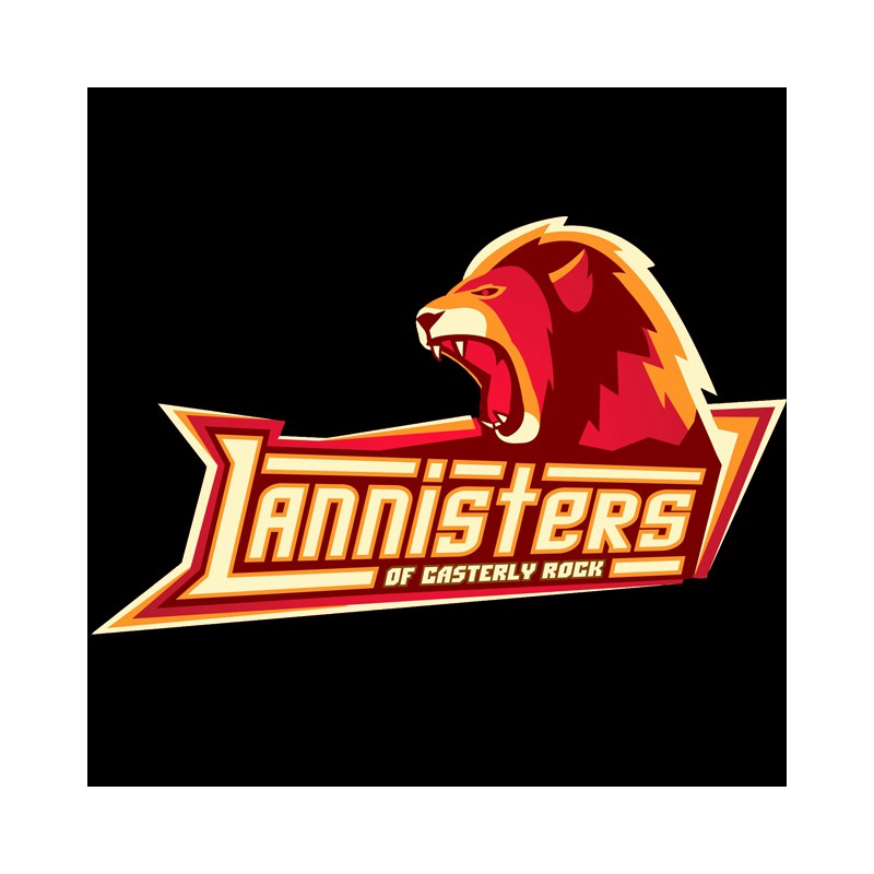 Lannisters logo tee shirt black sports team for Softball logos for t shirts