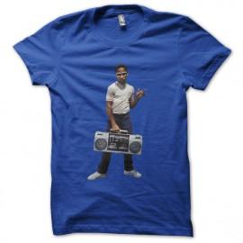 tee shirt kid guetto blaster bleu royal