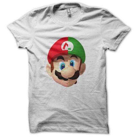 Camisa del logotipo de mario luigi el punk cómo tonto blanco