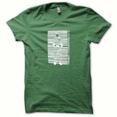 Tee shirt Bagnard blanc/vert bouteille