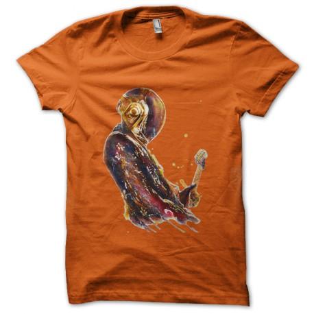 camisa naranja daft punk artística