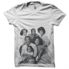 tee shirt cosby show la famille en blanc