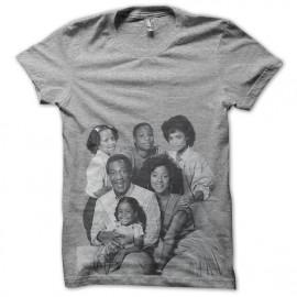 tee shirt cosby show la famille en gris