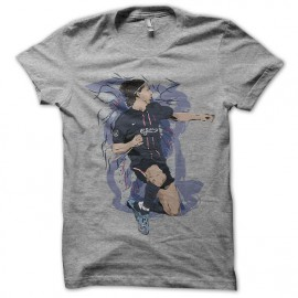 tee shirt zlatan ibrahimovic artistique gris