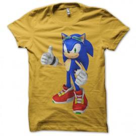 Gold Tee Shirt Sonic