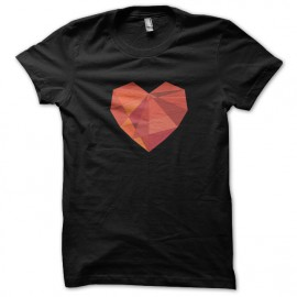 corazón negro de la camiseta