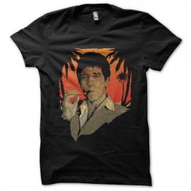 tee shirt tony montana SCARFACE noir