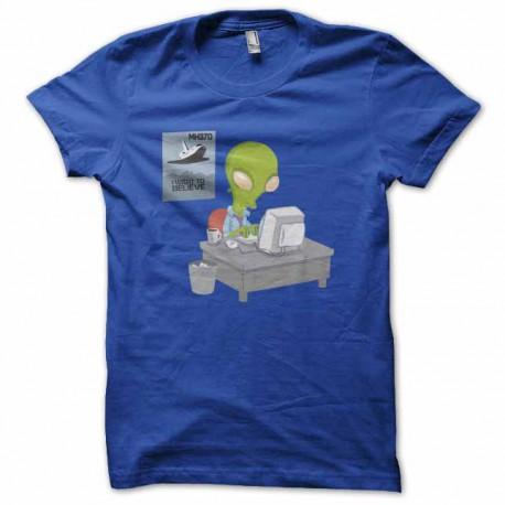 tee shirt mh370 malaisia airline ufo bleu royal
