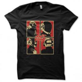 Daft Punk camiseta logotipo negro
