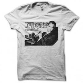 tee shirt i get awesome instead blanc