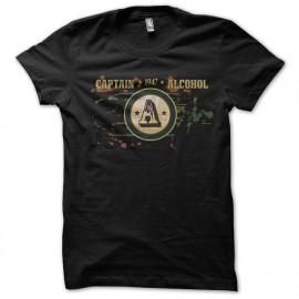 tee shirt captin alcohol noir