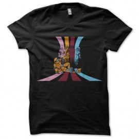 negro camiseta hombre Pac divertido
