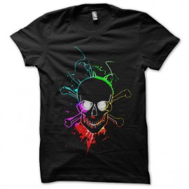 tee shirt glowing skull noir