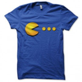 pac man shirt blue
