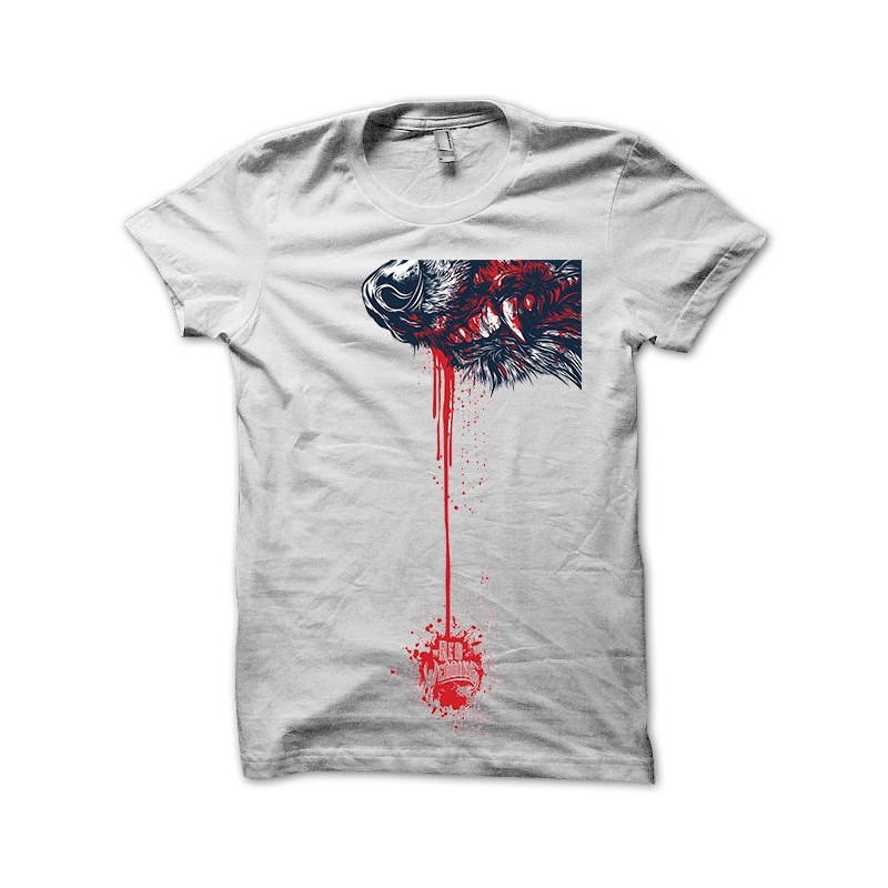 260888aa Tee Shirt Wedding Red Wolf bloodied white Game of Thrones ...