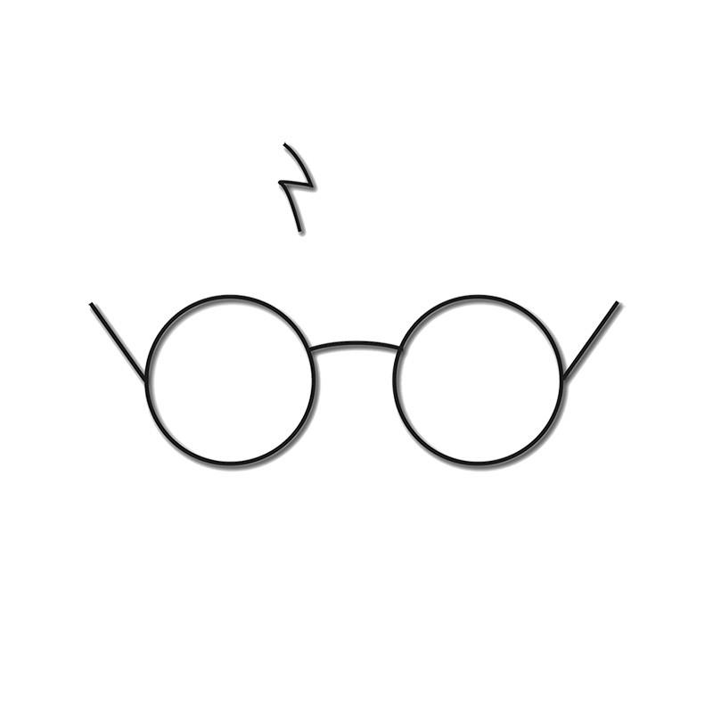 Gafas Blancas De La Camiseta Y De La Cicatriz De Harry Potter