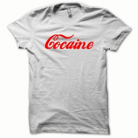 Tee shirt fonts Cocaine rouge/blanc