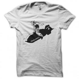 tee shirt Chuck norris the boom blanc