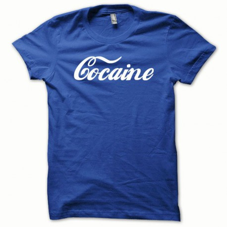 Tee shirt Cocaine blanc/bleu royal