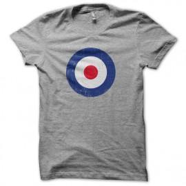 MAR círculo camiseta del gris que se