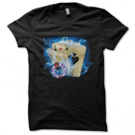 tee shirt Firerblue Poker noir