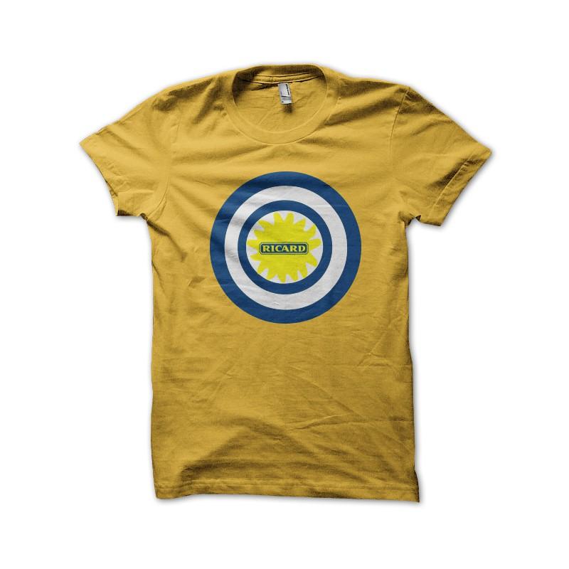 tee shirt captain ricard jaune. Black Bedroom Furniture Sets. Home Design Ideas