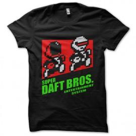 tee shirt super daft bros noir