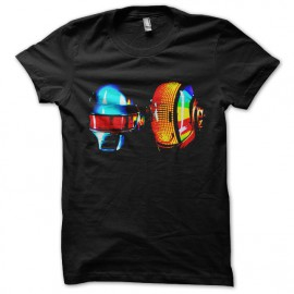 camisa de color negro daft punk