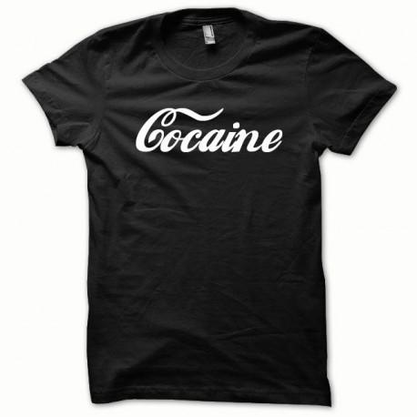 Tee shirt Cocaine blanc/noir