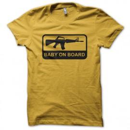 tee shirt baby ob borad jaune