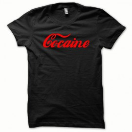 Tee shirt Cocaine humour rouge/noir