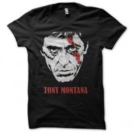 tee shirt tony montana cicatrice noir