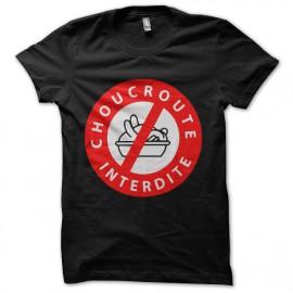 Tee Shirt Choucroute interdite Noir