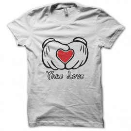 Mickey tee shirt and white Love