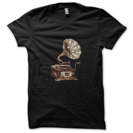 music vintage black t-shirt