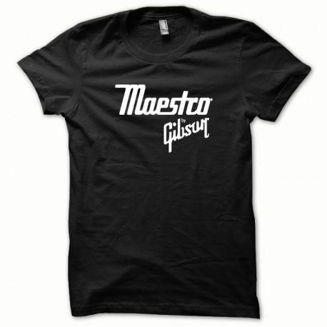Tee shirt Maestro Gibson Noir/Blanc