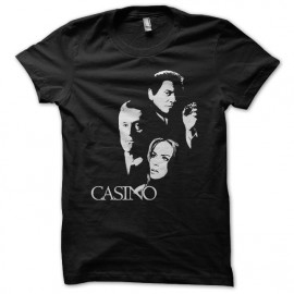 negro camiseta Casino