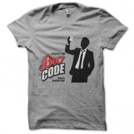 Shirt barney stinson bro respect the gray code