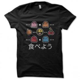 negro camiseta Pacman