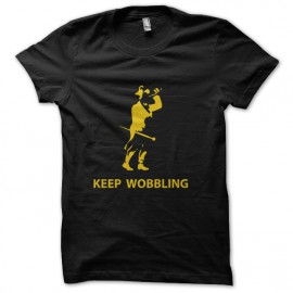 black t-shirt Keep wobbling