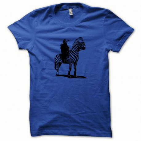 Tee shirt CRS noir/bleu royal