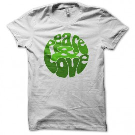 Peace Love Green t-shirt on White