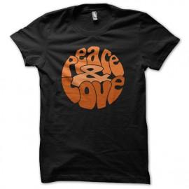 Tee Shirts Naranja amor de la paz en Negro