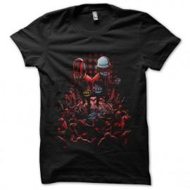 camisa de daft punk negro salvar el mundo